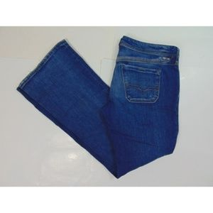 Diesel Womens 30x32 Lowky BC Blue Jeans Bootcut